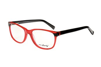 Acetate frame bright red/bla