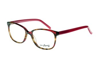 Acetate frame demi brown wit