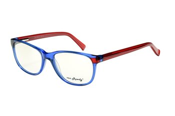 Acetate frame bright blue/re